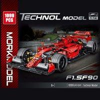 Teknik Serisi 1100 adet Simülasyon F1 Yarış Araba Modeli Yapı Taşları Yaratıcı Şehir Yarışı Arabalar Tuğla Oyuncaklar Erkek Çocuklar Noel Hediyeler X0102