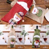 크리스마스 장식 병 슬리브 레드 와인 샴페인 병 가방 룸 장식 와인 병 포장 산타 자루 3 9hca의 G2 식사