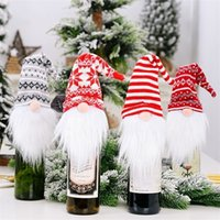 Bags Santa Claus Wine Bottle Cover Gift Bag Dinner Party Xma...