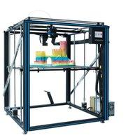 Принтеры Tronxy X5SA Обновленный алюминиевый 3D-принтер 500 * 500 * 600 мм Размер печати с экструдером Ультра Тихий режим OSG Двойной оси Руководство