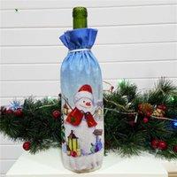 Noel Dekorasyon Makaleler Yaratıcı Noel Baba Kırmızı Şarap Şişesi Set Xmas Şarap Hediye Çantası Noel Partisi Şarap Şişesi Dekorasyon HHE2930