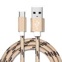 삼성 Andriod USB 유형 C 케이블 용 1M 2M 마이크로 USB 데이터 충전기 케이블 3FT 6FT 나일론 꼰 금속 고속 충전 동기화 데이터 충전기 코드 와이어