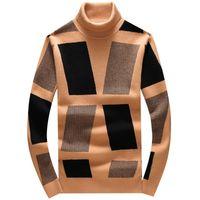 2021 새로운 럭셔리 남성 겨울 클래식 블록 수 놓은 스웨터 아시아 스웨터 플러그 고품질 # N110 UTTY
