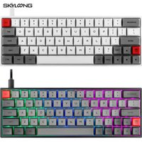 Skyloong SK64 64 Chaves Mini portátil teclado mecânico sem fio Bluetooth Gaming Keyboard Mx RGB Backlight Geek Gateron interruptor