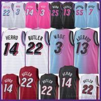 2021 New Dwayne Dwyane 3 Wade Basketball Jersey Jimmy 22 Butler Herren Tyler 14 Herro Bam 13 Adebayo Goran 7 Dragic Kendrick 25 Nunn White