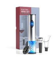 Elektrischer Weinöffner Elektrische Automatische Weinflaschenöffner Automatische Korkenzieher mit Folienschneider und Vakuumstopper Set 5 Farben