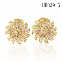 Orecchini di progettazione di girasole orecchini di diamante di moda orecchini donna oro orecchini orecchini gioielli orecchini fiore