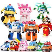 6 قطعة / المجموعة robocar poli لعبة التحول روبوت poli العنبر روي سيارة اللعب أنيمي عمل الشكل اللعب أفضل الهدايا للأطفال x0121
