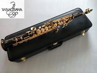 Yeni YANAGISAWA S-WO10 B (B) Ton Yüksek Kalite Soprano Saksafon Pirinç Siyah Altın Sax ile Ağızlık Kılıf ve Aksesuarları