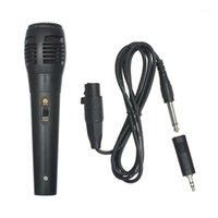 Microfone vocal dinâmico Microfone portátil 6.5mm macho para 3,5mm adaptador estéreo jaque fêmea para alto-falantes computador1
