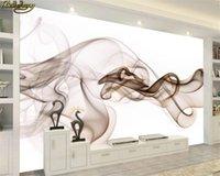 beibehang Пользовательские фото 3d обои фреска Аннотация Атмосфера Дым ТВ диван фоне стены бумаги домашнего декора Papel де Parede