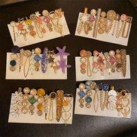 Moda Pearl Diamond Grampos Brilhantes crianças meninas elegantes grampos de cabelo Pin Cristal Barrettes Acessórios headdress HHA1612