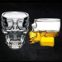 Crystal cabeza del cráneo de Copas vodka copa de vino del pirata Vacío Vaso de cerveza taza Club de Copas esqueleto WY301w