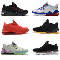 LeBron James 2020 أحذية الرجال 17S برون السابع عشر LBJ17 نغمة فرقة لوس انجليس ليكرز crenshow أحذية كرة السلة للرجال أعلى منخفض 17 المدربين الرياضية حذاء رياضة 40-46