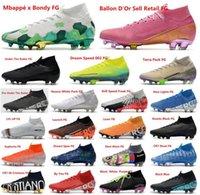 Лучшего качество Мужчины Футбол Бутсы Mercurial Superfly VI футбольные бутсы 360 FG CR7 SE Роналдо Неймар Mens Outdor бутсы