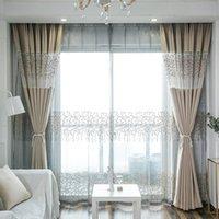 Moderne Vorhänge zum Wohnzimmer mit Esszimmer Schlafzimmer Einfache dicke Nähte Stoff Moderne Vorhang Fertigprodukt Anpassung