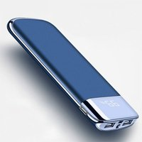 For Xiaomi Samsung iphone 8 XS 30000mah Power Bank External Battery PoverBank 2 USB LED Powerbank Portable Mobile phone Charger
