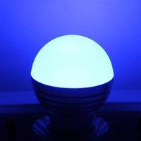 E27 3W RGB LED Dimmable Light Bulb 85-265V Light Bulb office New and high quality Light Bulbs wholesale