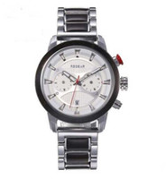 HWP Новый стиль древесины кварцевые движения мужчины часы хронографа полная фурка белый циферблат мужские часы черный деревянный лент бесплатная доставка