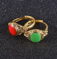 Vintage trouwring voor vrouwen luxe kleur zand gouden ring ronde acryl steen ringen