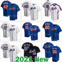 12 Jersey Francisco Lindor 2020 Nouveau Custom Jacob Degrom Pete Alonso Mets Mike Piazza Dwight Gooden Keith Hernandez Darryl Strawberry York