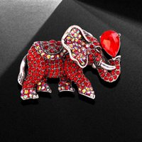 Fashion Animal Elephant Pendant Brooch Badge Collar Pin Jeans Sweater Brooches Chest Pin Silk Scarf Pins Breastpin Jesery Overcoat Jewelry