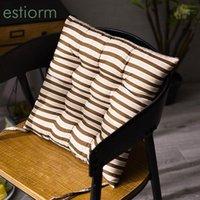 40x40 см настольный стул подушки полосатые подушки сиденья с подушками сиденья столовые колодки полиэфирные волокна офисная подушка с галстуками для bupain1