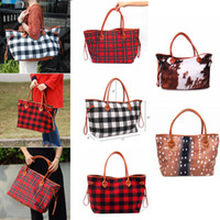 Fashion plaid Handbag Travel Storage Bag Black Red Black and...