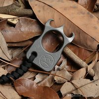 Dicoria Andy frankart sfk واحد البنصر tc4 التيتانيوم لكمة daggers في الهواء الطلق مشبك البقاء على قيد الحياة edc مفاصل knuckles متعددة tools1236