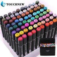 TouchNew 60/80/168 Цвета маркеры Pen Set Animation эскиз маркер двойной головы рисунок искусства кисти ручки с алкоголем на основе Y200709