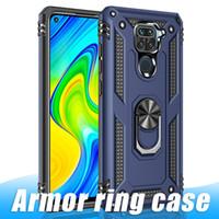 Pour iPhone 12 PRO 11 PRO Max Armure Stand Porte-porte-chômage pour Samsung A71 S10PLUS A21S Case à anneau Housse arrière avec sac Opp