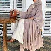 Roupas étnicas vetement femme aberto abaya dubai peru abayas para mulheres muçulmanos moda hijab vestido árabe marroquino kaftan roupão musulman de m