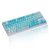 Tastaturen 1 Set Austauschbare PBT-Tastencaps 87 104 108 Transparente Schriftzugstasten Double S