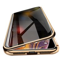 iPhone 11 Pro Max Manyetik Kılıf Gizlilik Metal Telefon Kılıfı Coque 360 Mıknatıs önle-röntgenci Kapak iPhone X XR Xs İçin