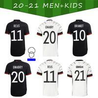 2021 Jersey de futebol Hummels Gnabry Gotze Werner Gundogan Reus Klostermann 20 21 Home Away Adulto + Kit Camisa de Futebol