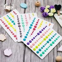Envoltório de presentes Qitai 4Sheets Açúcar polvilha auto-adesivo pontos de resina de esmalte para scrapbooking / DIY artesanato / cartão fazendo decoração es001