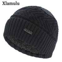 Xlamulu ماركة الجينز skullies beanies محبوك قبعة الشتاء القبعات للرجال الدافئة قبعة صغيرة gorros bonnet إلكتروني قبعات المرأة الشتاء كاب LJ201221