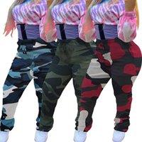 Женские брюки CAPRIS камуфляж напечатанные повседневные укладки в штабелированные потрясающие люди Activewear High Waterstring Drawstring BodyCon Jogger мода драпированный Ruch