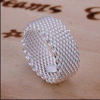 Red de venta caliente anillo de plata esterlina 925 rurales de plata anillos de banda 1713