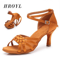 Hot selling Women Girl Professional Red Dancing Shoes Ballro...
