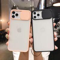 Kamera-Schutztelefon-Kasten für iPhone 12Pro 12 Mini 11 Pro Max XR XS Max X 7 8 6S Plus-Objektiv Slide Stoß- Frosted durchsichtige Frontklappe