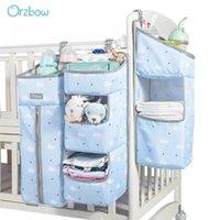 Orzbow Baby Crib Organizer 저장 가방 Newbron 침대 저장 기저귀 가방 캐디 주최자 유아 침구를위한 가방을 교수형 회색 201210