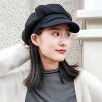 Berets lvtzj mulheres boina vintage herringbone gatsby tweed peaky blinds chapéu sboy primavera plana pico chapéus