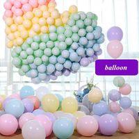100 unids 12 pulgadas en balón globo macarrón color pastel fiesta decoración de boda globo surtido