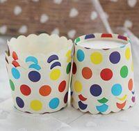 لون كعكة العفن كأس متنوعة 20 تصميم الكعك كيك القالب حالة ورقة الخبز كأس بطانات العفن كعكة الديكور Dia60 * SQCREE عددي