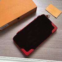 Mulheres 60699 carteiras de cartão de carteiras de couro genuíno bolsa de couro CX # 137 sacos 23cm com caixa