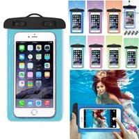 """6 """"Yüzer Hava Yastığı Yüzme Çantası Su Geçirmez Cep Telefonu Kılıfı Cep Telefonu Kılıfı Yüzmek Dalış Sörf Plaj Evrensel Armband Çanta Kullanımı"""