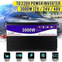 Autosprung Starterpower Inverter 3000W 12V / 24V / 48V bis 220V LCD-Display Reine Sinuswellenspannungs-Transformator-Wandler für Home Netzteil1