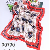 Mulheres Primavera e Outono Inverno Versátil Novo 2021 Multi-Funcional Lenço Scarf Silk Satin Gift Shawl