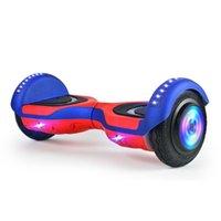 새로운 전기 균형 자동차 어린이 스마트 더블 휠 4-12 세 다채로운 조명 블루투스 자기 균형 스쿠터